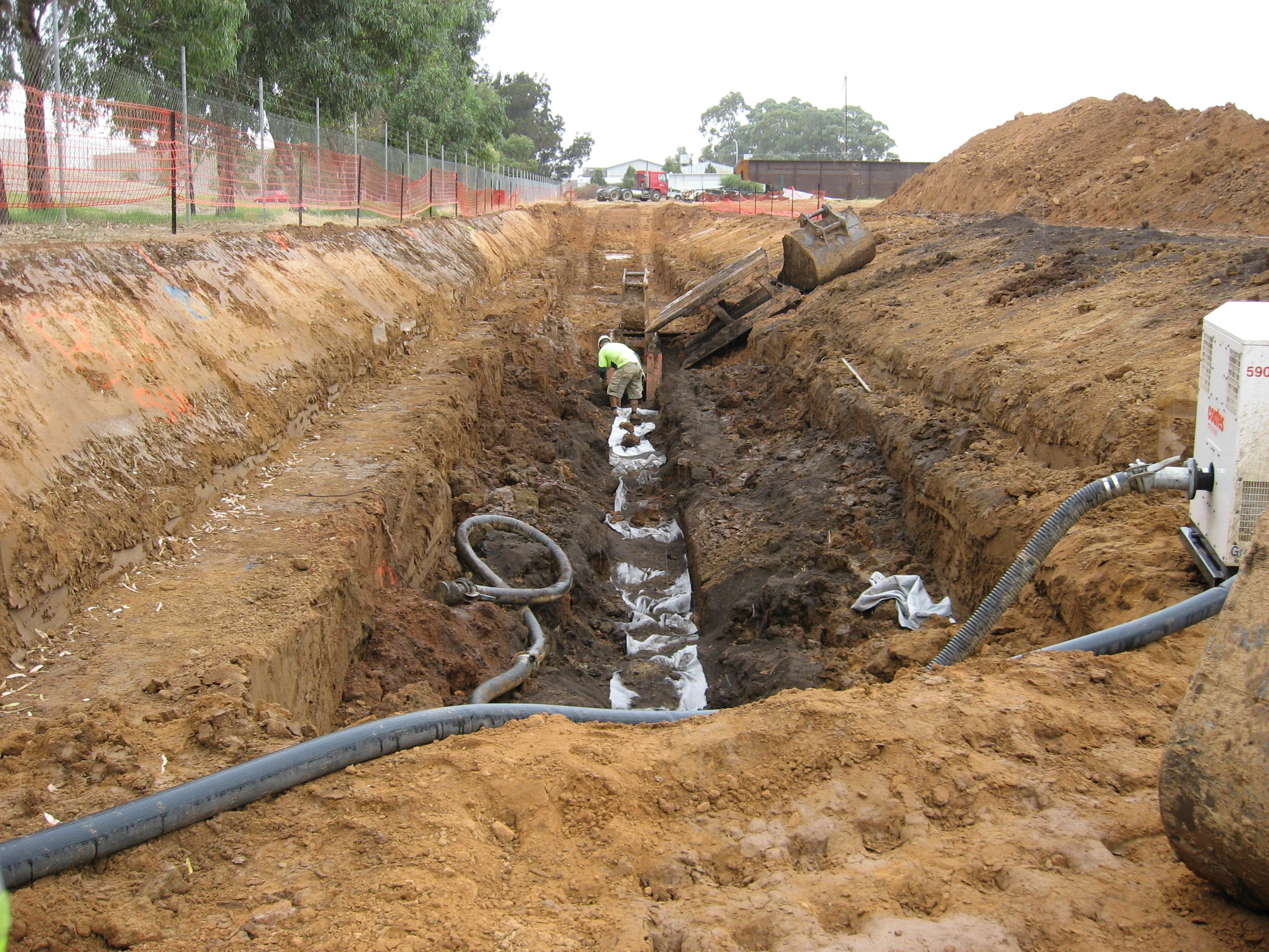 Soil and Groundwater Interception Trench